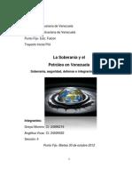 Soberanía y Petróleo en Venezuela.
