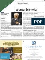 """""""O povo não vai se cansar de protestar"""""""