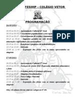 I FESIMP PROGRAMAÇÃO