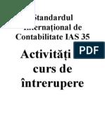 IAS Standardul International de Contabilitate IAS 35