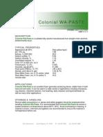 Colonial WA-Paste