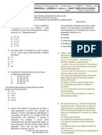 Bimestral 1 - Quimica I - 1001
