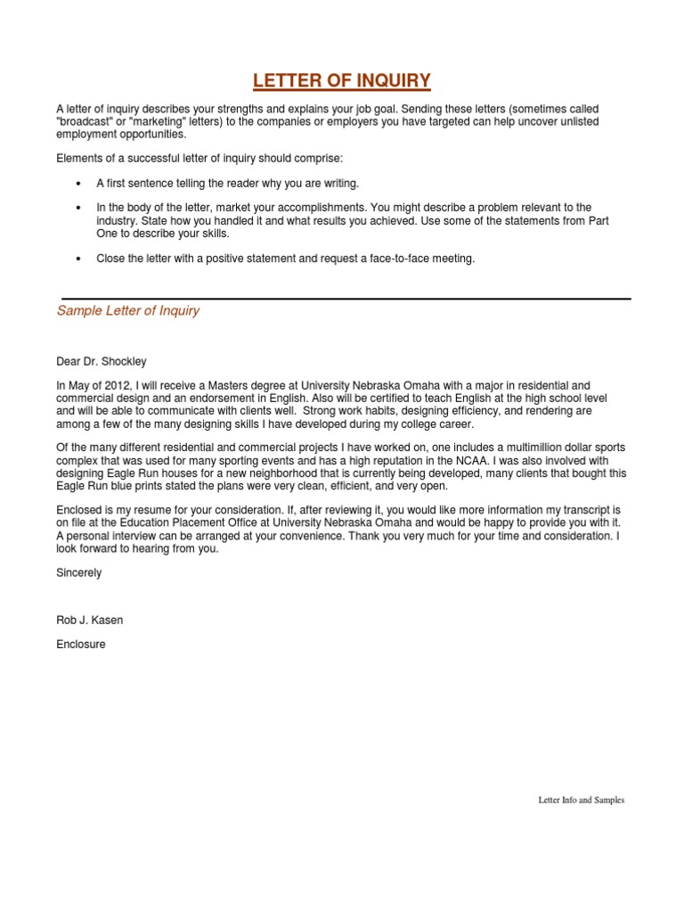 A Letter Of Inquiry from imgv2-2-f.scribdassets.com