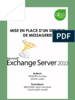 Mise en Place d Un Service de Messagerie Avec Exchange Server