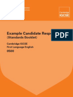 0500 First Language English Standards Booklet 2010 WEB