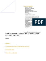 Fiscalitatea Directa in Romania