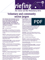 Voluntary and Community Sector Jargon