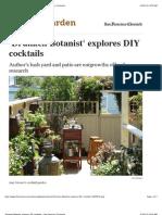 'Drunken Botanist' Explores DIY Cocktails - San Francisco Chronicle