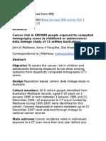 CT Cancer Risks