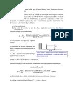 numero Reynolds, ecuación de Pouseville