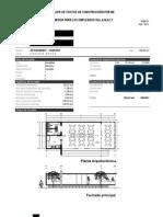 Costos de construcción por m2 para un comedor en Metepec, Estado de México