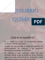 EQUILIBRIO QUÍMICO presentacion