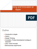 Design Thinking and Innovation at Apple