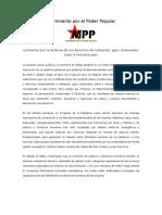 Pronunciamiento MPP