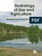 83887197 Soil Hydrology Land Use and Agriculture Measurement and Modelling