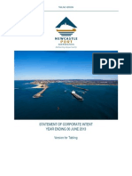2012-13 Newcastle Port Corporation Statement of Corporate Intent (SCI)