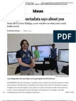 What your metadata says about you