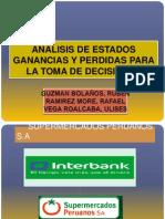 ANÁLISIS DE ESTADOS GANANCIAS Y PERDIDAS