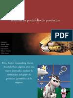 Análisis de portafolio de productos