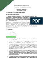 2009-05-11 Council Agenda Session