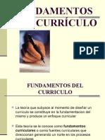 Fundamentos del Curriculo