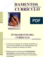 Fundamentos del Curriculo