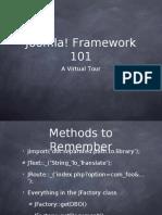 Joomla Framework Tour