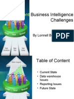 Business Intelligence Challenges 2009