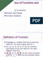 1.2 the Algebra of Functions