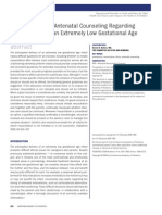 Antenatal Counseling Regarding Resuscitation at an Extremely Low Gestational Age PEDIATRICS 2009