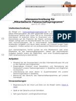 Stellenausschreibung Patenschaftsprogramm .doc