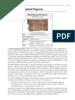 Rhind Mathematical Papyrus