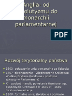 Anglia- Od Absolutyzmu Do Monarchii Parlamentarnej