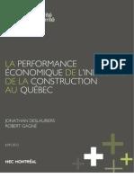 2012.06 - La performance économique de l'industrie de la construction au Québec