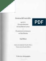 134531986 Marx Acerca Del Suicidio PDF