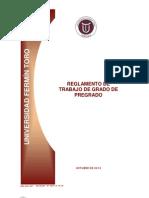 Reglamento Trabajo de Grado Pregrado Octubre 2012