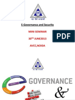 E-Governance and Security