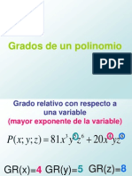1ro Sec Grado de Un Polinomio