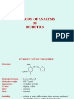 Analysis of Diuretics