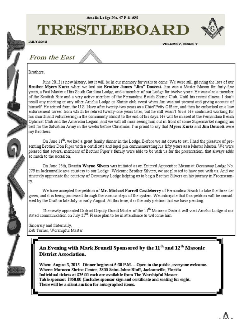 July 2013 trestleboard amelia 47 freemasonry mutual organization pronofoot35fo Images