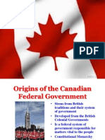 Structure of the Canadian Federal Government Presentation