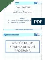 Gestin de Los Stakeholders y Gobierno Del Programa