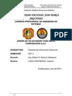 DISEÑO DE UN DATAMART DE MEGA CORPORACION S