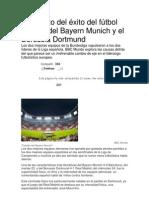 El secreto del éxito del fútbol alemán del Bayern Munich y el Borussia Dortmund.docx