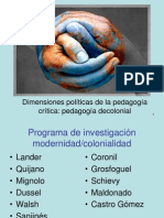 Clase pedagogía decolonial