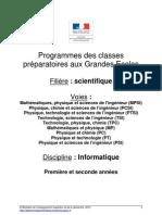 Programme Informatique 2013&2014
