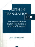 Jason BeDuhn 2003 Truth in Translation - Accuracy and Bias in English Translations of the New Testament