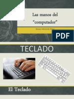 Las Manos Del Computador Teclado