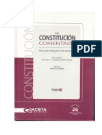 Constitucion Politica Del Peru Comentada - Gaceta Juridica