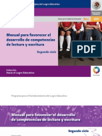 Manual Para Favorecer La Lectura y Escritura 2do Ciclo
